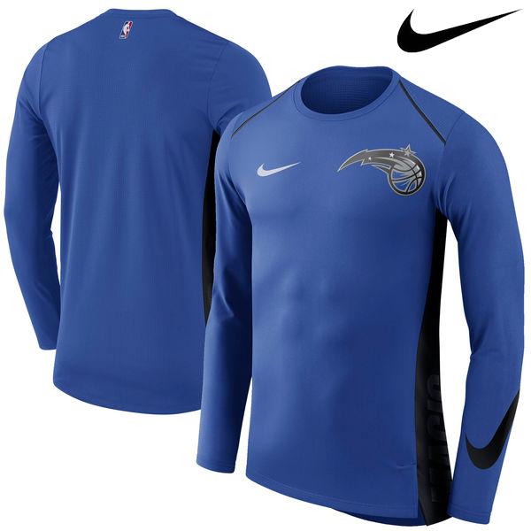 お取り寄せ NBA Nike/ナイキ マジック エリート シューター パフォーマンス ロングスリーブ Tシャツ ロイヤル