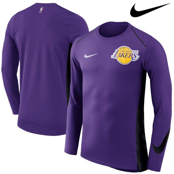 お取り寄せ NBA Nike/ナイキ レイカーズ エリート シューター パフォーマンス ロングスリーブ Tシャツ パープル