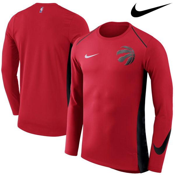 お取り寄せ NBA Nike/ナイキ ラプターズ エリート シューター パフォーマンス ロングスリーブ Tシャツ レッド