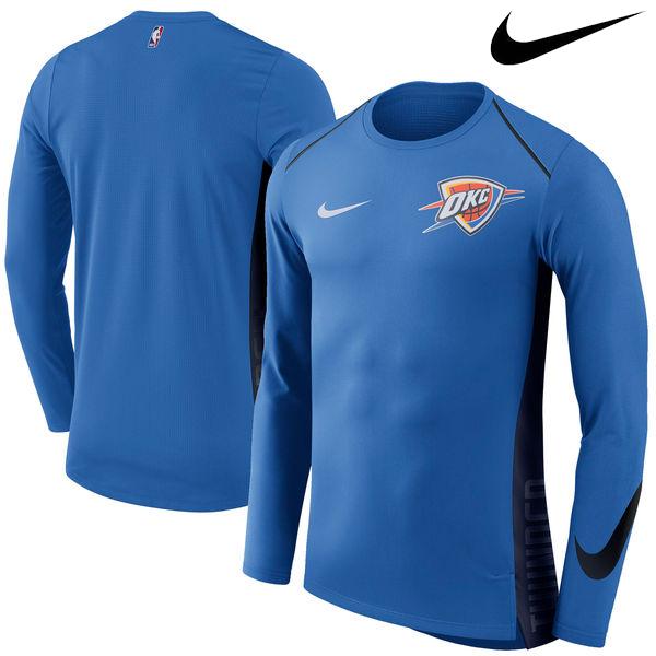 お取り寄せ NBA Nike/ナイキ サンダー エリート シューター パフォーマンス ロングスリーブ Tシャツ ブルー