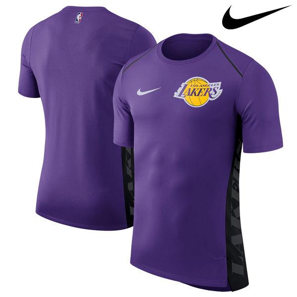 お取り寄せ NBA Nike/ナイキ レイカーズ エリート シューター パフォーマンス Tシャツ パープル