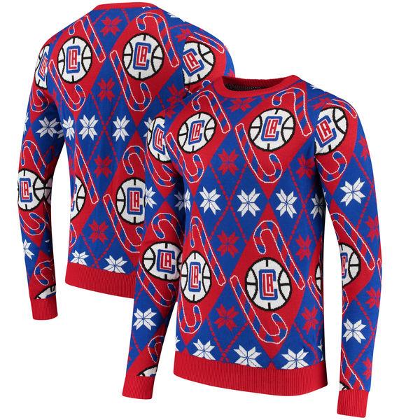お取り寄せ NBA クリッパーズ キャンディケイン リスペクト セーター