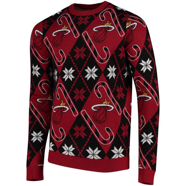 お取り寄せ NBA ヒート キャンディケイン リスペクト セーター