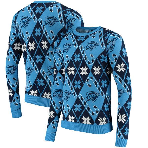 お取り寄せ NBA サンダー キャンディケイン リスペクト セーター