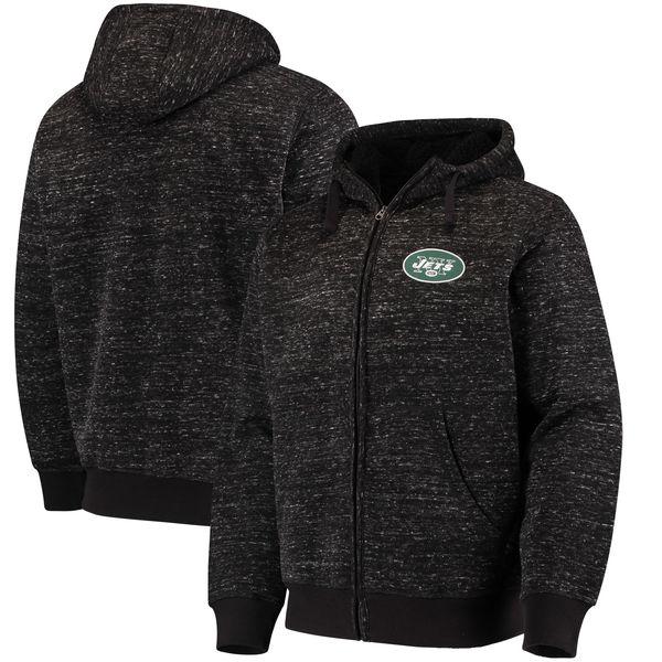 NFL ジェッツ ディスカバリー シェルパ フルジップ ジャケット G-III ブラック