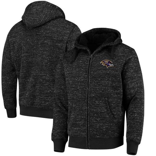 NFL レイブンズ ディスカバリー シェルパ フルジップ ジャケット G-III ブラック