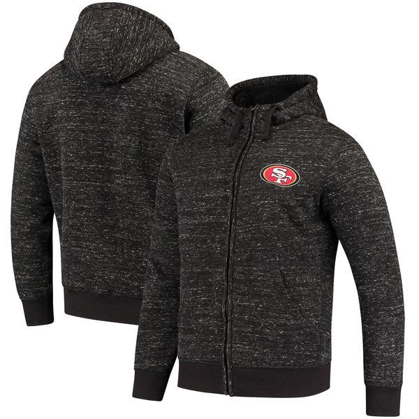 NFL 49ers ディスカバリー シェルパ フルジップ ジャケット G-III ブラック