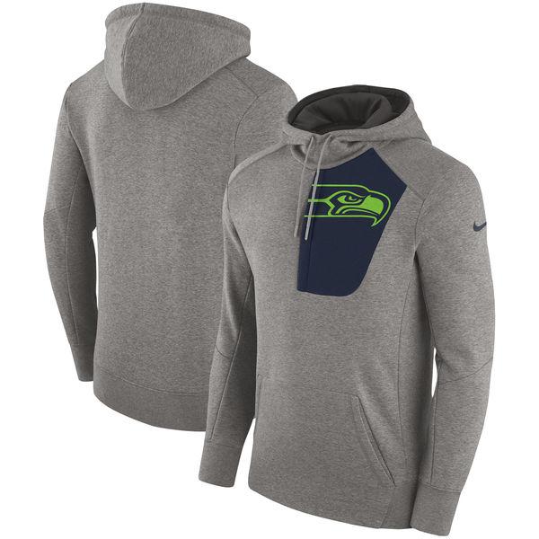 NFL シーホークス フライ フリース プルオーバー パーカー ナイキ/Nike ヘザーグレー