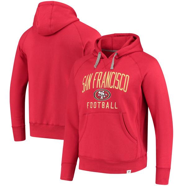お取り寄せ NFL 49ers インディストラクティブ プルオーバー パーカー スカーレット