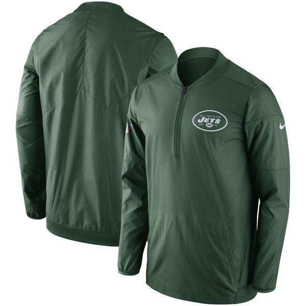 NFL ジェッツ サイドライン ロックダウン ハーフジップ プルオーバー ジャケット ナイキ/Nike グリーン