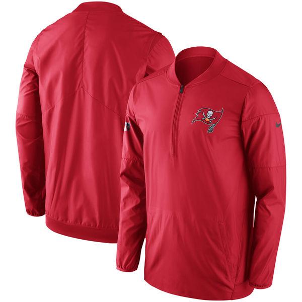 NFL バッカニアーズ サイドライン ロックダウン ハーフジップ プルオーバー ジャケット ナイキ/Nike レッド