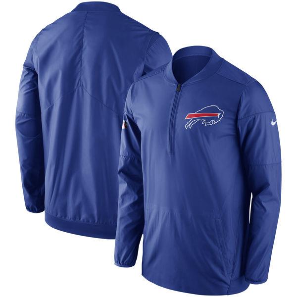 お取り寄せ NFL ビルズ サイドライン ロックダウン ハーフジップ プルオーバー ジャケット ナイキ/Nike ロイヤル