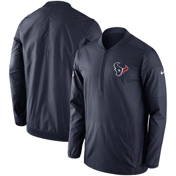 お取り寄せ NFL テキサンズ サイドライン ロックダウン ハーフジップ プルオーバー ジャケット ナイキ/Nike ネイビー