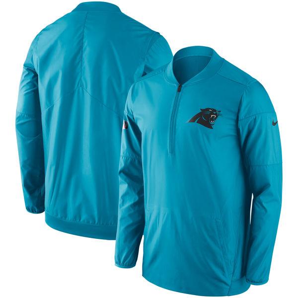 NFL パンサーズ サイドライン ロックダウン ハーフジップ プルオーバー ジャケット ナイキ/Nike ブルー