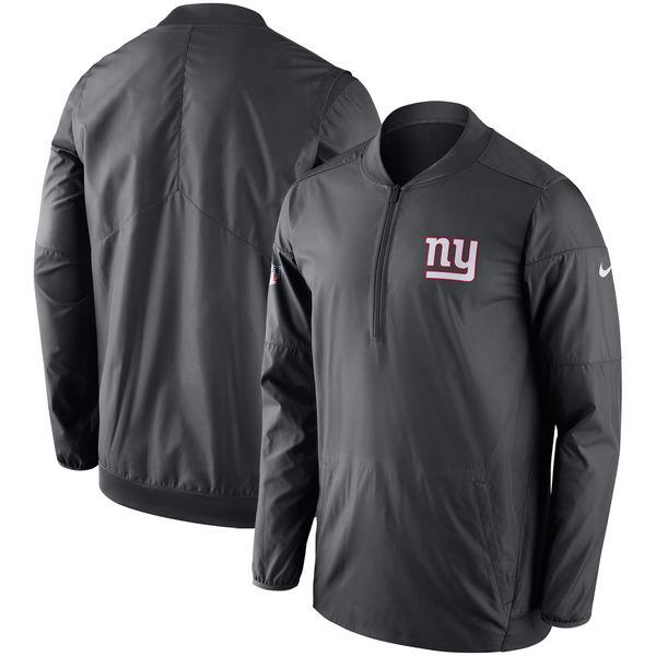 NFL ジャイアンツ サイドライン ロックダウン ハーフジップ プルオーバー ジャケット ナイキ/Nike アンスラサイト