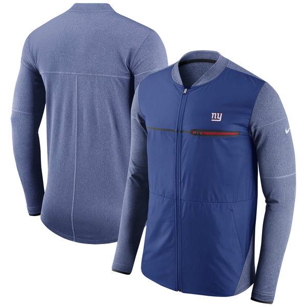 NFL ジャイアンツ サイドライン シールド ハイブリッド フルジップ ジャケット ナイキ/Nike ロイヤル