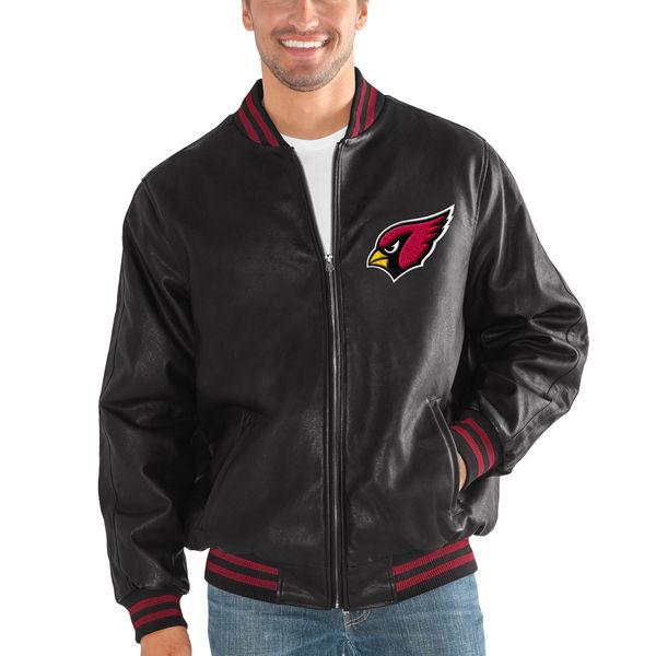 NFL カーディナルス スティッフ アーム プレザー バーシティー ジャケット G-III ブラック