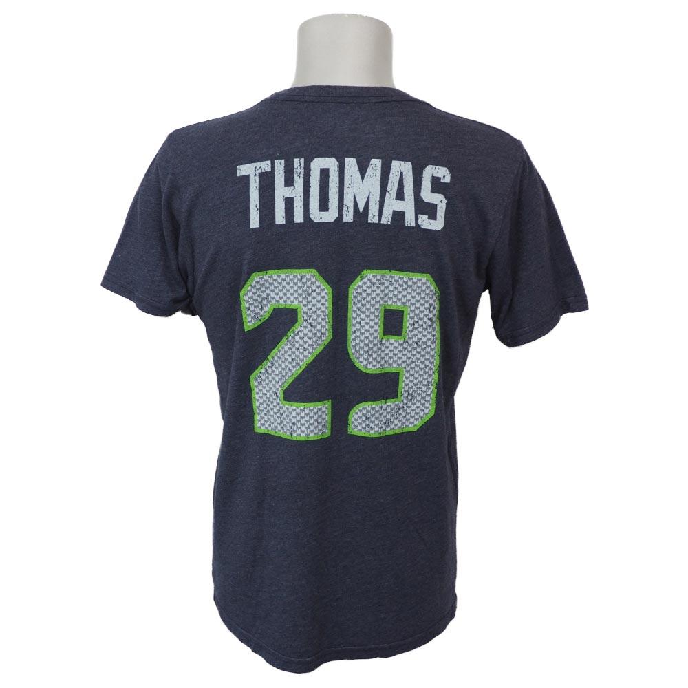 NFL シーホークス アール・トーマス ネーム&ナンバー トライブレンド Tシャツ ネイビー レアアイテム