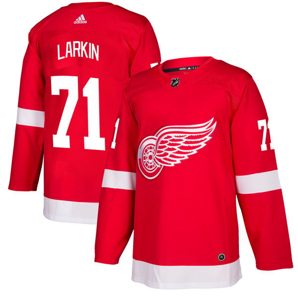 お取り寄せ NHL レッドウィングス ディラン・ラーキン オーセンティック プレイヤー ユニフォーム アディダス/Adidas レッド