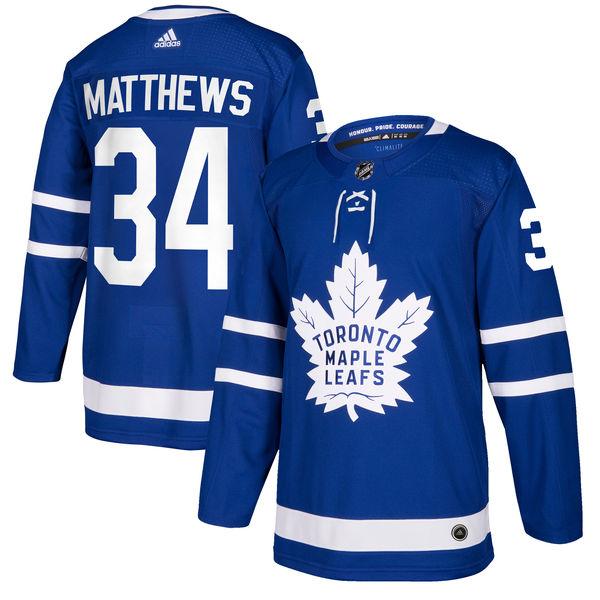 お取り寄せ NHL メープルリーフス オーストン・マシューズ オーセンティック プレイヤー ユニフォーム アディダス/Adidas ブルー