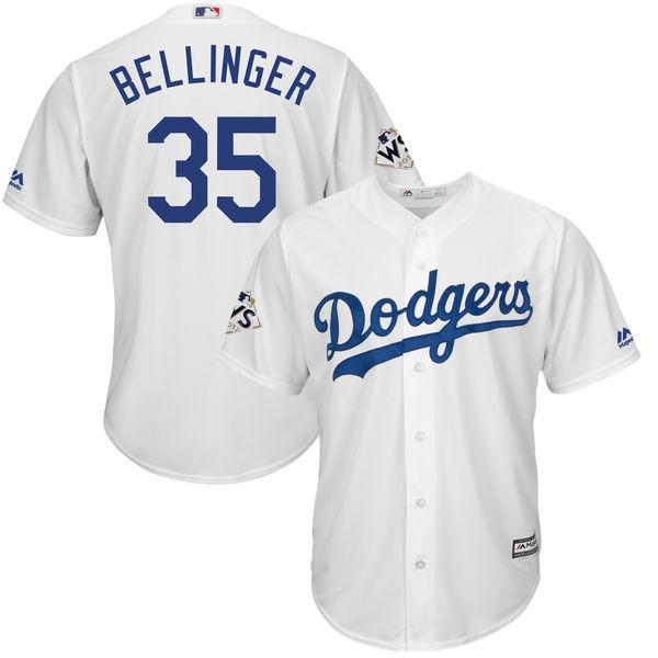 MLB ドジャース コディ・ベリンジャー 2017 ワールドシリーズ進出記念 クールベース プレイヤー ユニフォーム マジェスティック/Majestic ホワイト
