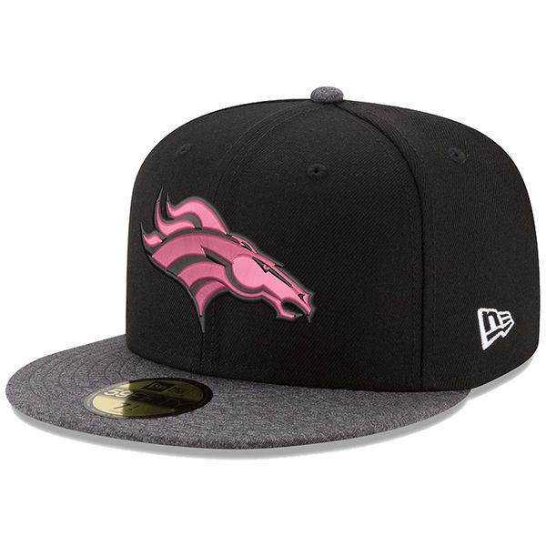 NFL ブロンコス ピンク フック 59FIFTY フィッテッド キャップ/帽子 ニューエラ/New Era ブラック/グラファイト
