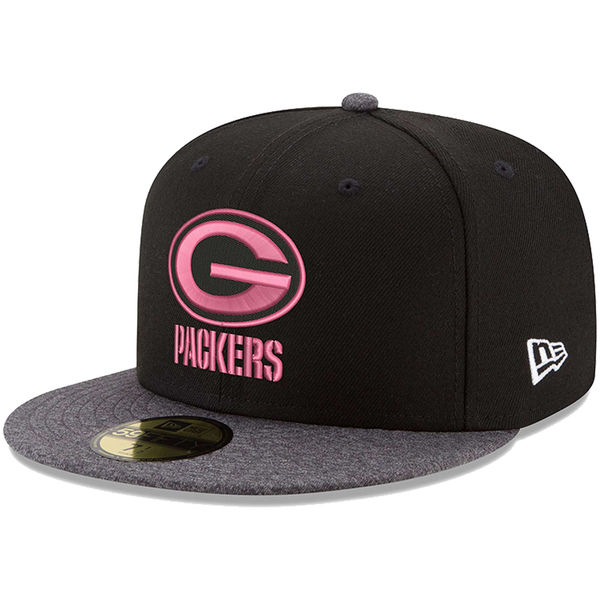 NFL パッカーズ ピンク フック 59FIFTY フィッテッド キャップ/帽子 ニューエラ/New Era ブラック/グラファイト
