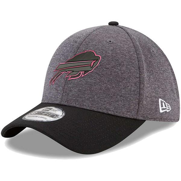 NFL ビルズ ピンク フック 39THIRTY フレックス キャップ/帽子 ニューエラ/New Era グラファイト/ブラック