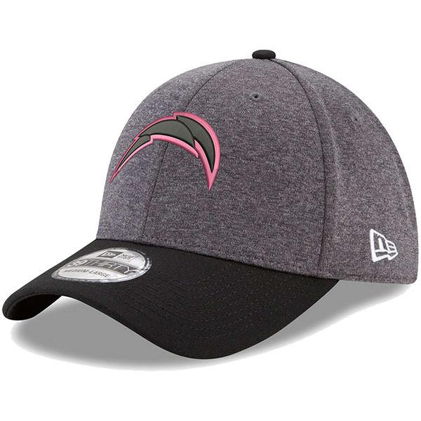 NFL チャージャーズ ピンク フック 39THIRTY フレックス キャップ/帽子 ニューエラ/New Era グラファイト/ブラック