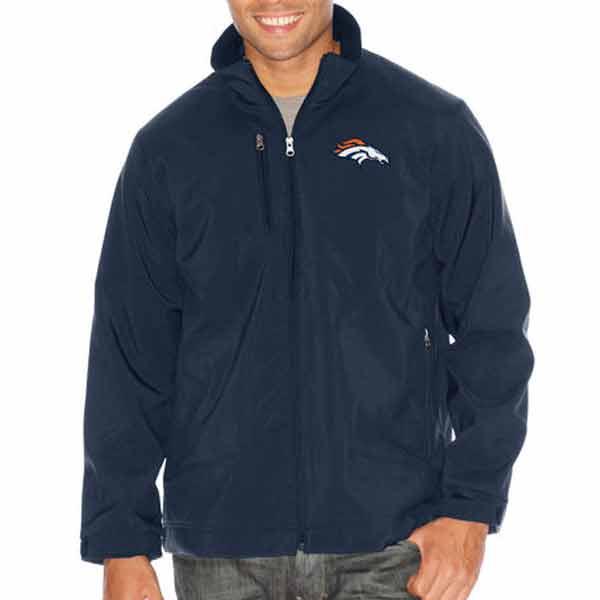 お取り寄せ NFL ブロンコス ストロング サイド ソフトシェル ジャケット ジースリー/G-III ネイビー