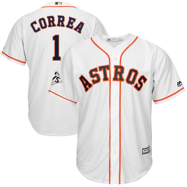 お取り寄せ MLB アストロズ カルロス・コレア 2017 ワールドシリーズ進出記念 クールベース プレイヤー ユニフォーム マジェスティック/Majestic ホワイト