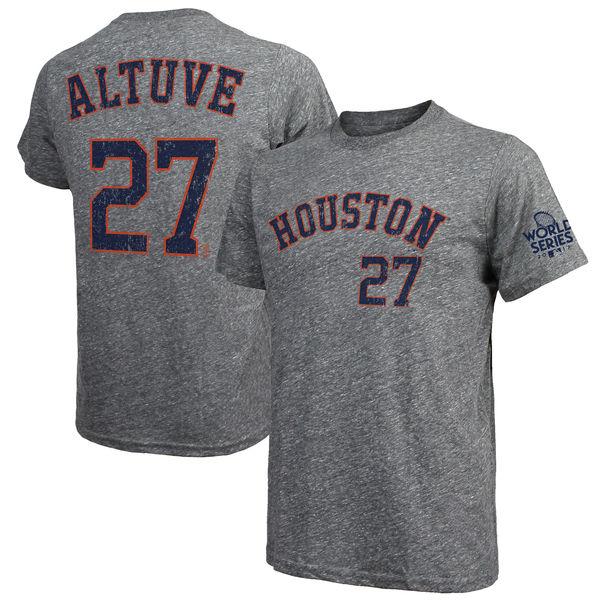 お取り寄せ MLB アストロズ 2017 ワールドシリーズ 優勝記念 ゲーム リード Tシャツ マジェスティック/Majestic ヘザーグレー