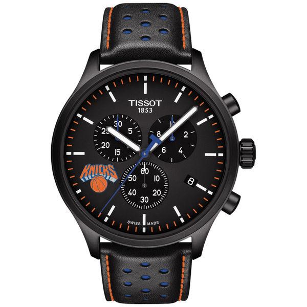 お取り寄せ NBA ニックス ステンレス スチール クロノグラフ XL 腕時計/ウォッチ ティソ/Tissot ブラック