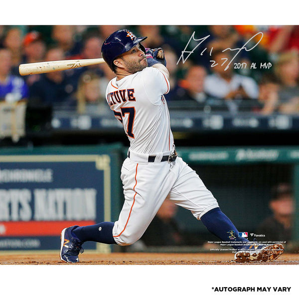 お取り寄せ MLB アストロズ ホセ・アルテューベ 直筆サイン入り 2017 ア・リーグ MVP記念 フォト