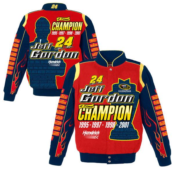 【リニューアル記念メガセール】NASCAR ジェフ・ゴードン ナスカー ツイル ジャケット JH デザイン/JH Design レッド