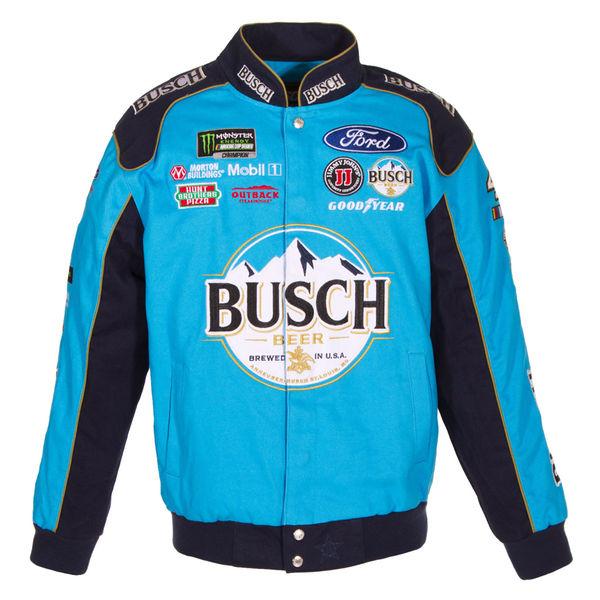 お取り寄せ NASCAR ケヴィン・ハーヴィック ナスカー ツイル ジャケット JH デザイン/JH Design ブルー/ネイビー