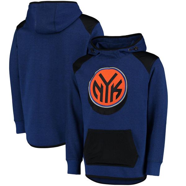 お取り寄せ NBA ニックス ハーフタイム プルオーバー パーカー UNK ブルー