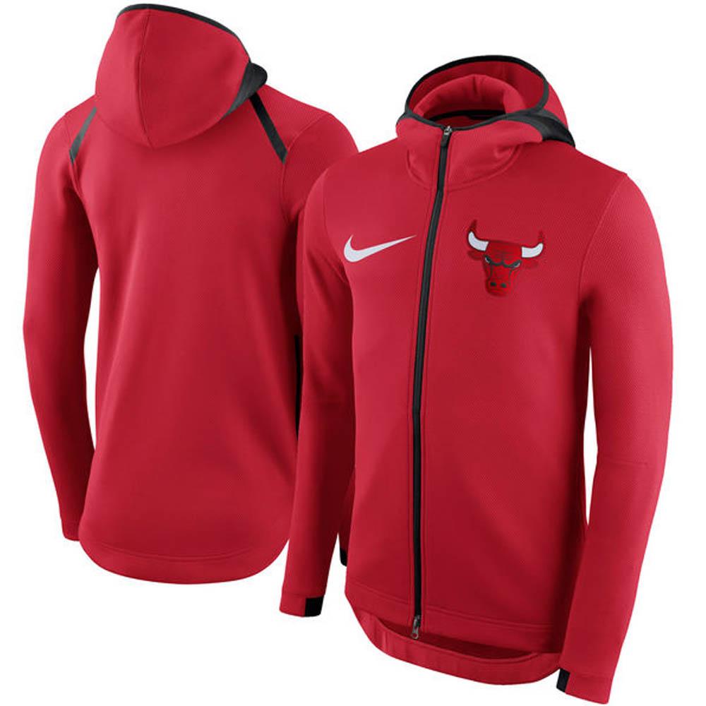 NBA Nike/ナイキ ブルズ サーマ フレックス ショータイム フルジップ パーカー ユニバーシティレッド