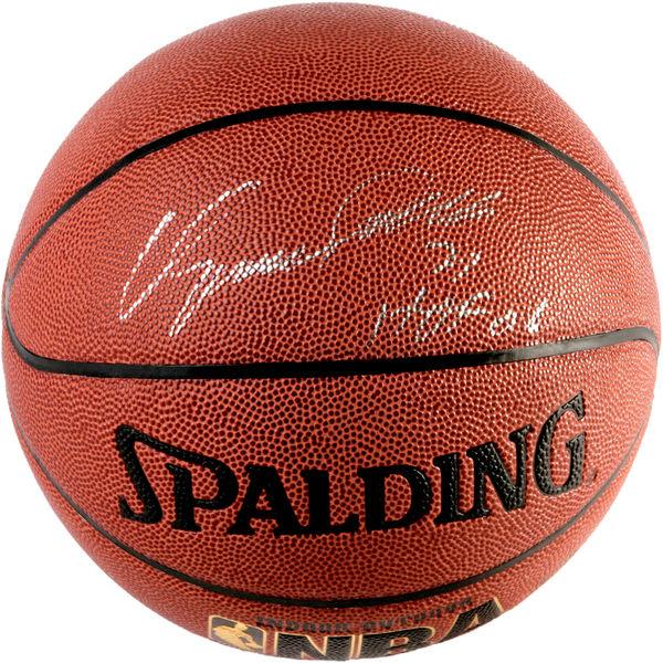 お取り寄せ NBA ホークス ドミニク・ウィルキンス 直筆サイン バスケットボール 殿堂入り記念 2006