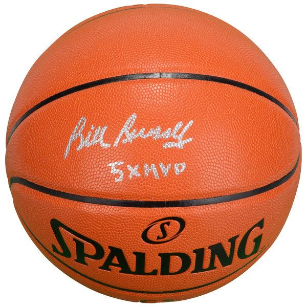 お取り寄せ NBA セルティックス ビル・ラッセル 直筆サイン バスケットボール 5x MVP