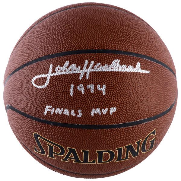 お取り寄せ NBA セルティックス ジョン・ハブリチェック 直筆サイン バスケットボール 1974 ファイナルズ MVP