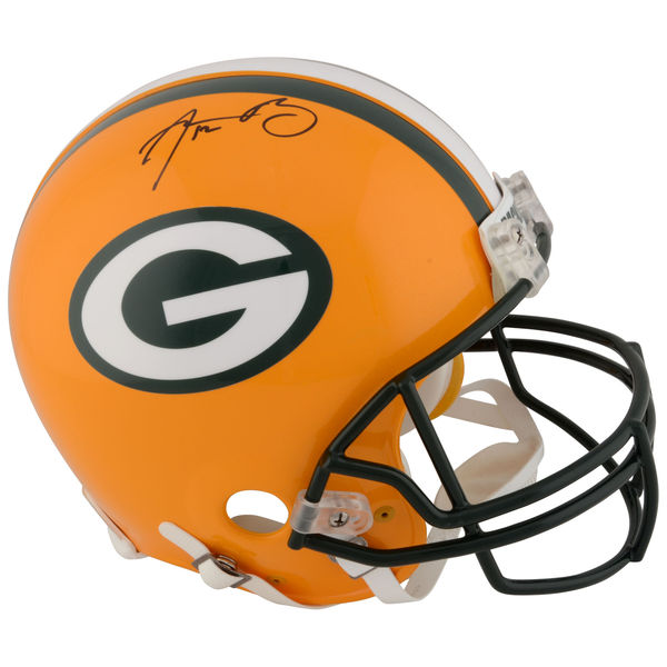 お取り寄せ NFL パッカーズ アーロン・ロジャース 直筆サイン入り オーセンティック ヘルメット リデル/Riddell