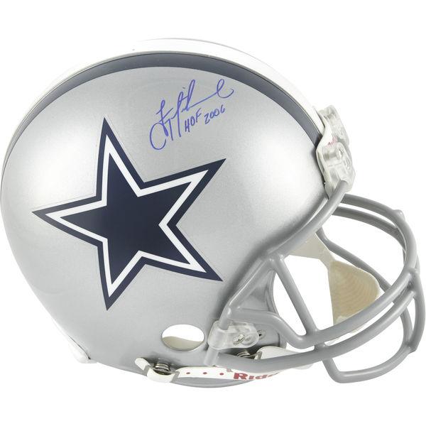 お取り寄せ NFL カウボーイズ トロイ・エイクマン 直筆サイン入り オーセンティック ヘルメット 2006 殿堂入り記念 リデル/Riddell