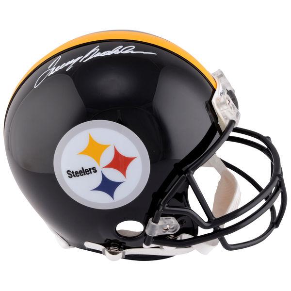 お取り寄せ NFL スティーラーズ テリー・ブラッドショー 直筆サイン入り オーセンティック ヘルメット リデル/Riddell