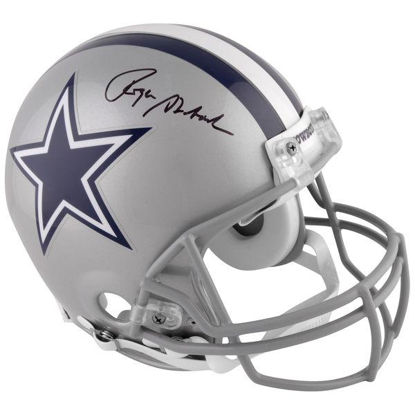 お取り寄せ NFL カウボーイズ ロジャー・ストーバック 直筆サイン入り オーセンティック ヘルメット リデル/Riddell