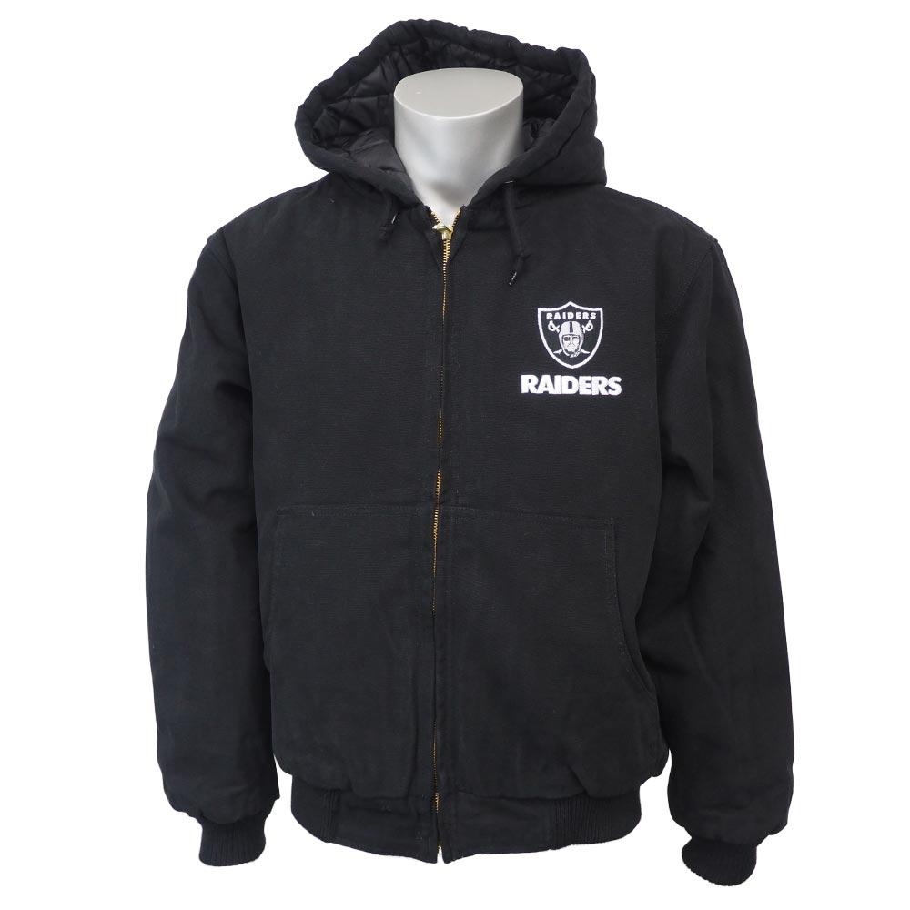 NFL レイダース ダコタ フード ジャケット ダンブルック/Dunbrooke ブラック【1810NFL】