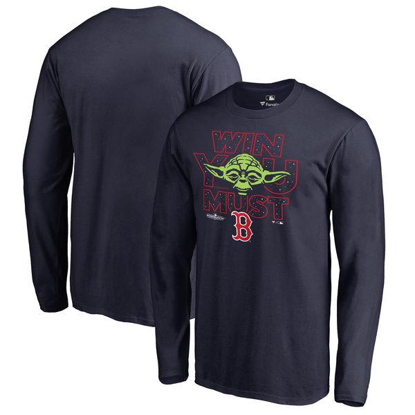 お取り寄せ MLB アストロズ 2017 ポストシーズン スター・ウォーズ Win You Must Tシャツ 半袖 ネイビー