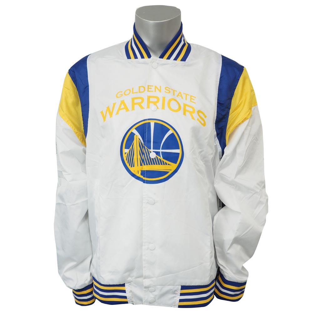 NBA ウォリアーズ リップストップ ボンバー ジャケット Whte