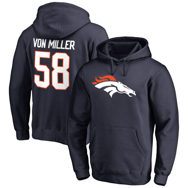 NFL ブロンコス ボン・ミラー プレイヤー アイコン ネーム & ナンバー プルオーバー パーカー/フーディー ネイビー