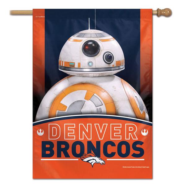 NFL ブロンコス スター・ウォーズ シングルサイド ハウス バナー フラッグ/旗 ウィンクラフト/WinCraft